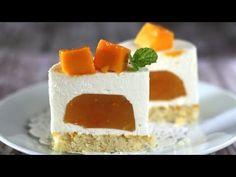 No bake orange cheesecake with mango (Mango orange cheesecake mousse)