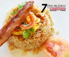 Jueves - Arroz con salsa de tomate y tocino - 7 días de Sabor con ECONO
