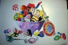Candies food painting