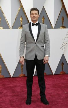 View the best dressed on the Oscars 2016 red carpet and see the latest Oscar fashion from the Academy Awards. Ryan Seacrest, Hey Man, Academy Awards, Red Carpet Fashion, Black Tie, Nice Dresses, Oscars, Cool Outfits, Hollywood