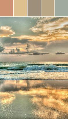 Beach Sunset Designed By Ange Gaffke via Stylyze