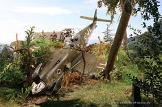 109 Crash Site Diorama