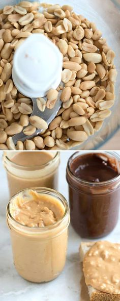 This peanut butter recipe is so simple to make all you need is a food processor and 15 minutes. Plus you can get creative. We make our basic peanut butter crunchy. Sometimes though we add almonds. And when were feeling bold we make chocolate peanut Best Peanut Butter, Homemade Peanut Butter, Peanut Butter Recipes, Chocolate Peanut Butter, Vegan Chocolate, Making Peanut Butter, Cashew Butter, Homemade Food, Chocolate Desserts