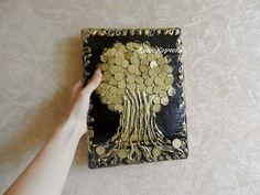 Картина дерево из монет своими руками