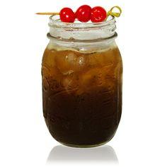 "XO Cherry Cola   Patrón XO Café, Amaro, Cherry Liqueur, Lemon Juice, Soda Water   View the recipe by clicking through and going to ""Drink Maker."""