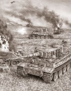 One of the intense, pivotal engagements during the Battle of Kursk in July, German Tiger 1 heavy tanks versus Soviet tanks at extremely close ranges, with high casualties on both sides.