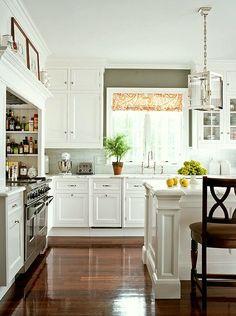 christopher-peacock-kitchen-orange-decor-laurel-home-blog-classic-white-kitchen