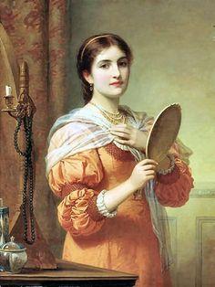 Charles Edward Perugini - Fair Reflection (1839-1918)