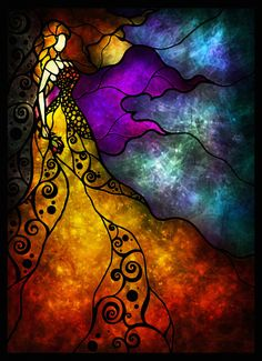 Beauty and the Beast (Stained Glass)