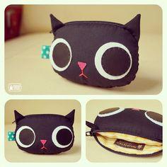 Black Kitty  coin purse /// el chorito pa' tierno <3