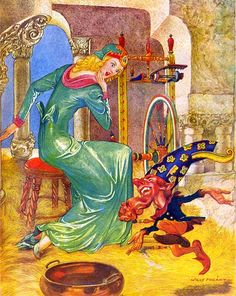 Rumpelstiltskin by Willy Pogany Grimm, Rumpelstiltskin, Fairytale Art, Art Archive, Fantasy Illustration, Faeries, Fairy Tales, Drawings, Painting