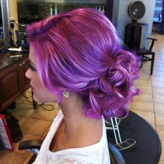 Pretty Purple Hair Hairstyles www.finditforweddings.com