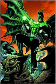 Green Lantern Batman. My two favorite heroes in one!