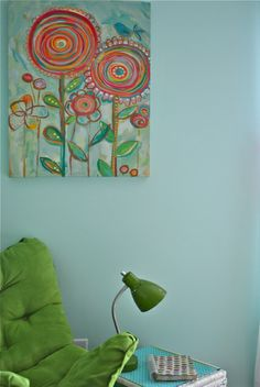 Sherwin Williams Tame Teal SW6757. Avery's new big girl room color, I also have this painting! Wow I found this after I picked everything out..