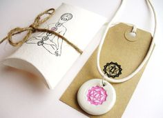 Heart Chakra pendant unisex yoga necklace round by GaneshasRat, $20.00