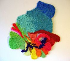 Art Installation knitted by Valerie Anne Molnar