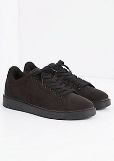 Black Microsuede Retro Sneaker by Qupid® | rue21