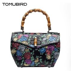 163.03$  Know more - http://aiad5.worlditems.win/all/product.php?id=32801526016 - TOMUBIRD 2017 new superior cowhide leather Designer Inspired Embossed Flower Ladies Handmade Leather Tote Satchel Handbags