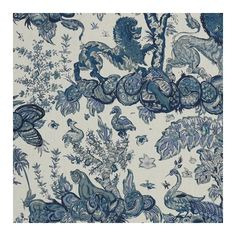 Jim Thompson Fabrics Menagerie Linen Fabric ($160) ❤ liked on Polyvore featuring home, home improvement and fabric