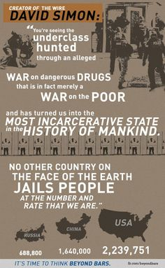 """The creator of The Wire calls it like it is:  """"An alleged war on dangerous drugs that is in fact merely a war on the poor.""""  #WarOnDrugs"""
