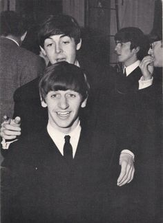 The Beatles being their cute selves