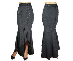 I found this nice little online shop called Blueberry Hill today. Most of the inventory is Rockabilly, but they also have a nice selection of full length Steampunk skirts and cool jackets. Steampunk Skirt, Steampunk Clothing, Steampunk Fashion, Steampunk Patterns, Rockabilly Outfits, Cool Jackets, Stripe Skirt, Fashion Details, Fashion Ideas