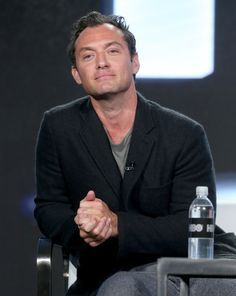 Jude Law Photos Photos - Actor Jude Law of the series 'The Young Pope' speaks onstage during the HBO portion of the 2017 Winter Television Critics Association Press Tour at the Langham Hotel on January 14, 2017 in Pasadena, California. 2017 Winter TCA Tour - Day 10