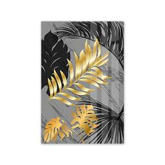 Scandinavian Style Marble Golden Leaf Art Plant Decoration Home 3d Wall Art, Wall Art Prints, Green Leaf Wallpaper, Gold Leaf Art, Plant Painting, Wall Decor Pictures, Golden Leaves, Art N Craft, Painting Inspiration