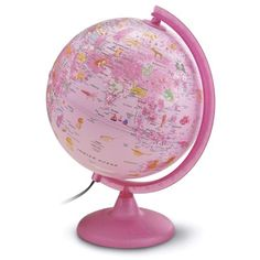 Waypoint Geographic Safari Explorer Pink Animals Globe