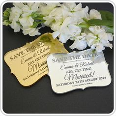 NEW!!! ACRYLIC ENGRAVED SAVE-THE-DATES http://www.personalisedfavours.com.au/favours/save-the-date-favours/engraved-acrylic-wedding-save-the-date