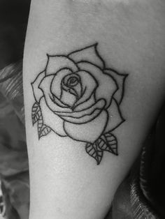 #rosetattoo #firsttattoo getting more added to it soon!