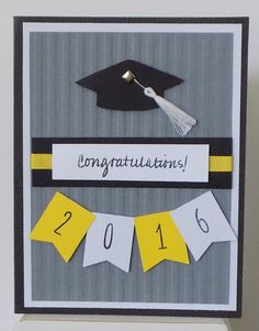 Unique 2016 Graduation Card Graduate Cards High by Artsycardsee Graduation Cards Handmade, Graduation Diy, Handmade Birthday Cards, Greeting Cards Handmade, Tarjetas Diy, Karten Diy, Embossed Cards, Congratulations Card, Paper Cards