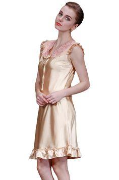 0904b4bae8 Amazon.com  Olivery 2pc Womens Faux Silk Sleepwear with Top  amp  Crop Pants