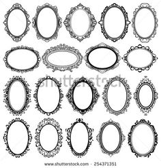 oval frame tattoo design. Oval Vintage Frames Design Elements. Left 2nd From Bottom J R Only Due  Us Part Tattoo Oval Frame Tattoo Design S