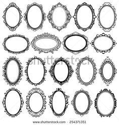 oval frame tattoo design. Oval Vintage Frames Design Elements. Left 2nd From Bottom J R Only Due Us Part Tattoo Frame Y