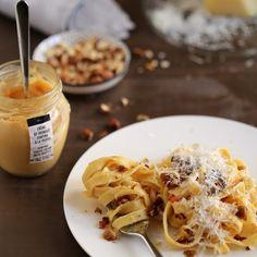 Pour se réchauffer... Tagliatelles à la Crème de fromage Fontina à la Truffe Maison Baumont. Une merveille ! Disponible sur www.maisonbaumont.fr