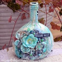 MezzaNotte skapar: Mixed Media Bottle