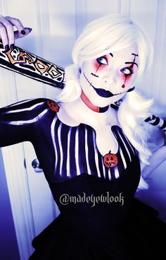 Cant decide what character to be? BE BOTH! Harley Skellington original look!