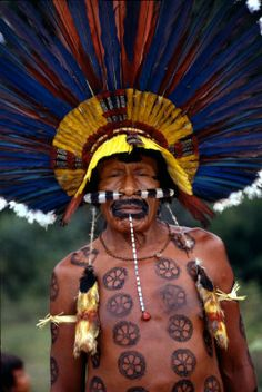 Bororo indian of Brazil