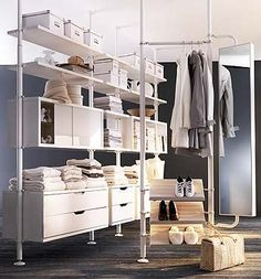 IKEAでウォークインクローゼット収納を作る 3|ガレージハウス建築日記|ブログ|bimota_tesi|みんカラ…