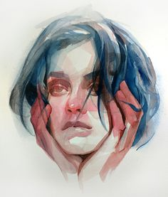 Gestural Brush Strokes and Focused Color Palettes Form Watercolor Portraits by Nick Runge Colossal Watercolor Face, Watercolor Portraits, Watercolor Paintings, Watercolor Trees, Simple Watercolor, Watercolor Landscape, Tattoo Watercolor, Watercolor Artists, Watercolor Animals