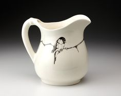 Chickadee Pitcher by Laura Zindel