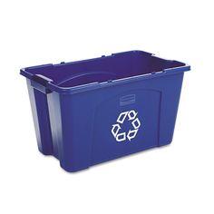 1 NEW RECYCLING BOX BIN HEAVY DUTY COVERS.TIE ON//BLUE ELASTICATED **