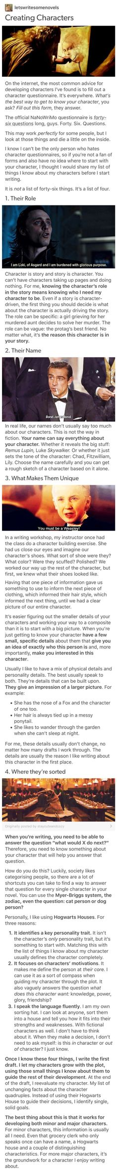 This is probably the most helpful writing advice I've ever read (characters, creating characters, character sketching) Writer Tips, Book Writing Tips, Writing Process, Writing Resources, Writing Help, Writing Skills, Writing Ideas, Def Not, Writing Characters