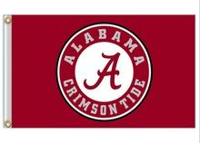 hot sell The University of Alabama Crimson Tide NCAA Flag 3X5FT 150X90CM Banner brass metal holes product NO N001(China (Mainland))