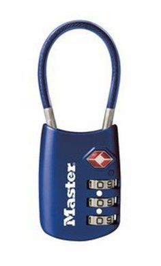 This lock is TSA approved. It can be opened by TSA with a master key. That way if something IS stolen, you know who did it. Master Lock 4688D TSA Accepted Cable Luggage Lock in Assorted Colors, 1-Pack