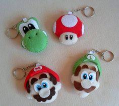 ARTESANATO COM QUIANE - Paps,Moldes,E.V.A,Feltro,Costuras,Fofuchas 3D: Moldes Super Mario Bros