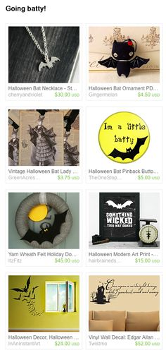 Etsy Treasury: Going Batty!