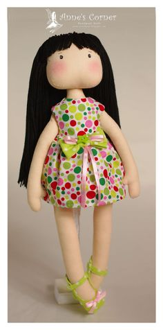 Sweet hand made rag doll  made to order by by AnneCorner on Etsy