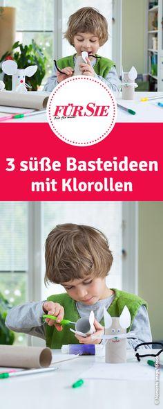3 süße Basteideen mit Klorollen